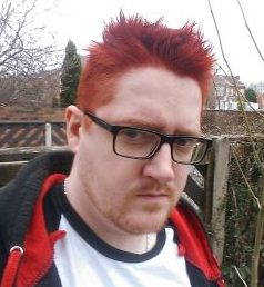 Dave sometimes has red hair