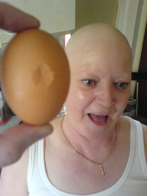 My mum. And an egg.